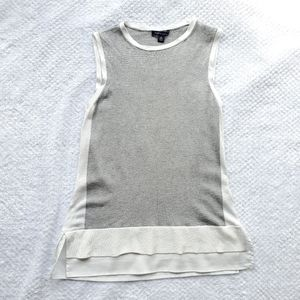 Tommy Hilfiger/White & Gray Top/ Size XS